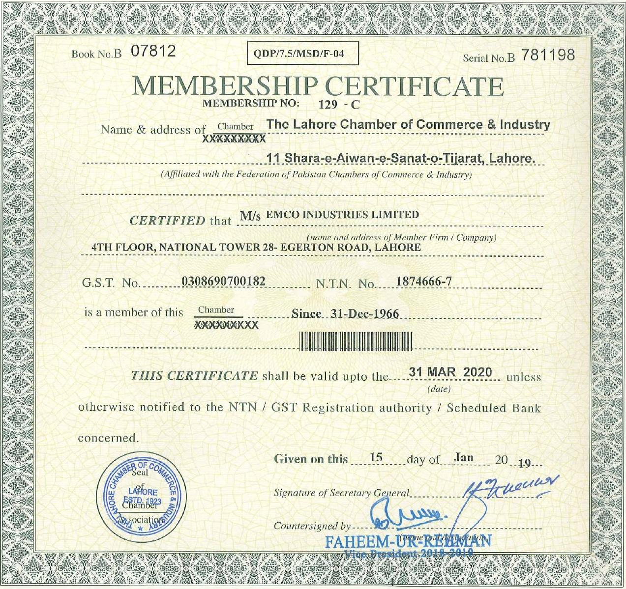 LCCI Certificate